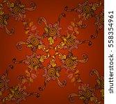 hand drawn tribal ethnic... | Shutterstock . vector #558354961