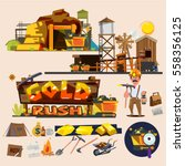 gold mine with graphic elements.... | Shutterstock .eps vector #558356125