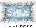 new year sale banner template... | Shutterstock .eps vector #558359389