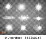 silver glitter bokeh lights and ... | Shutterstock .eps vector #558360169