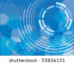 abstract circles background | Shutterstock .eps vector #55836151