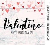 valentine background with... | Shutterstock .eps vector #558365464