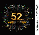 happy 52nd anniversary. with... | Shutterstock .eps vector #558371431