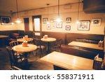 restaurant in bokeh  defocused... | Shutterstock . vector #558371911