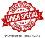 lunch special. stamp. sticker.... | Shutterstock .eps vector #558376141