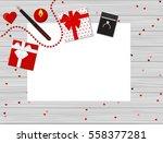 flat design of valentine's day... | Shutterstock .eps vector #558377281