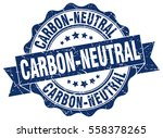 carbon neutral. stamp. sticker. ... | Shutterstock .eps vector #558378265