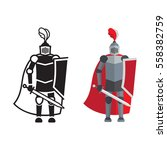 medieval knight icon and... | Shutterstock .eps vector #558382759