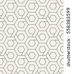 vector seamless pattern. modern ... | Shutterstock .eps vector #558383599
