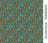 patch boho flower seamless... | Shutterstock .eps vector #558383641
