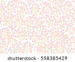 seamless pattern with pink... | Shutterstock .eps vector #558385429