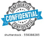 confidential. stamp. sticker.... | Shutterstock .eps vector #558388285