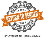 return to sender. stamp.... | Shutterstock .eps vector #558388339