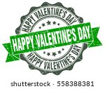 happy valentine's day. stamp.... | Shutterstock .eps vector #558388381