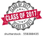 class of 2017. stamp. sticker.... | Shutterstock .eps vector #558388435