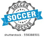 soccer. stamp. sticker. seal.... | Shutterstock .eps vector #558388501