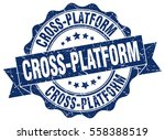 cross platform. stamp. sticker. ... | Shutterstock .eps vector #558388519