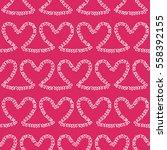 romantic seamless pattern.... | Shutterstock .eps vector #558392155