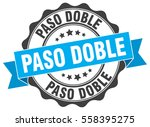 paso doble. stamp. sticker.... | Shutterstock .eps vector #558395275