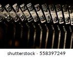 old vintage typewriter keys and ... | Shutterstock . vector #558397249
