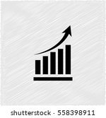 growing graph    black vector... | Shutterstock .eps vector #558398911