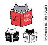 Cute Logo For Cat Cafe. Funny...