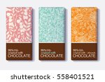 vector set of chocolate bar... | Shutterstock .eps vector #558401521
