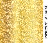 vector golden abstract swirls... | Shutterstock .eps vector #558401581