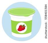 yogurt healthy cream milk... | Shutterstock .eps vector #558401584