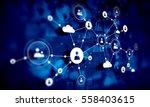 social network background .... | Shutterstock . vector #558403615