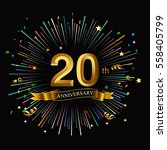 happy 20th anniversary. with... | Shutterstock .eps vector #558405799