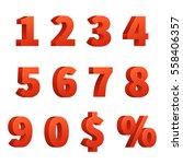 red figure numbers ... | Shutterstock .eps vector #558406357