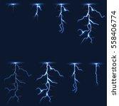 lightning  thunderbolt fx... | Shutterstock .eps vector #558406774
