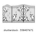 design of forged gate with a... | Shutterstock .eps vector #558407671