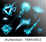 vector set of glow light effect ... | Shutterstock .eps vector #558410011