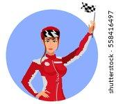 racer girl | Shutterstock .eps vector #558416497