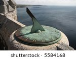 Ancient Sundial On The Castle...