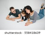young hipster father  mother... | Shutterstock . vector #558418639