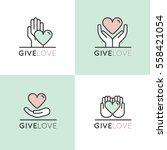 vector illustration icon set of ... | Shutterstock .eps vector #558421054
