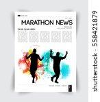 magazine layout | Shutterstock .eps vector #558421879