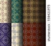 set of seamless vintage... | Shutterstock .eps vector #558421975