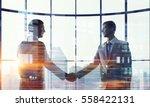 nice to meet you partner .... | Shutterstock . vector #558422131