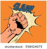 pop art vector illustration... | Shutterstock .eps vector #558424075