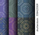 set of seamless vintage... | Shutterstock .eps vector #558425509