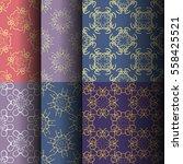 set of seamless vintage... | Shutterstock .eps vector #558425521