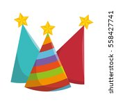 party hats isolated icon   Shutterstock .eps vector #558427741