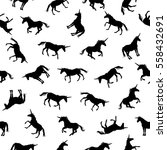 seamless pattern   silhouettes... | Shutterstock .eps vector #558432691