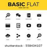 basic set of user search  news... | Shutterstock .eps vector #558434107