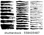 ink brush strokes  set of paint ... | Shutterstock .eps vector #558435487
