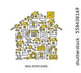 real estate business outline...   Shutterstock .eps vector #558438169
